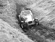 Classic car trial section